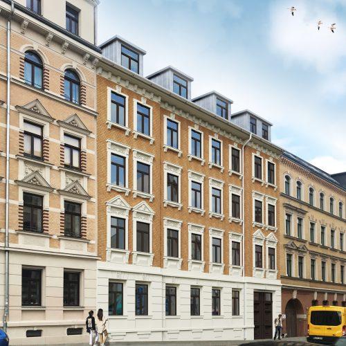 Visualisierung Gründerzeithaus Frontansicht